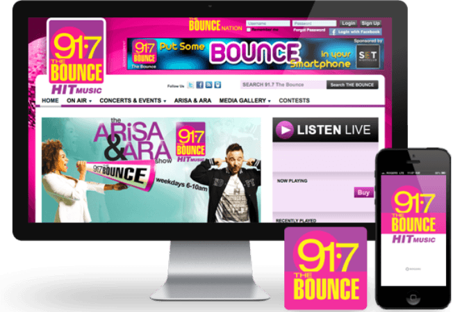 thebounce91.7 apps
