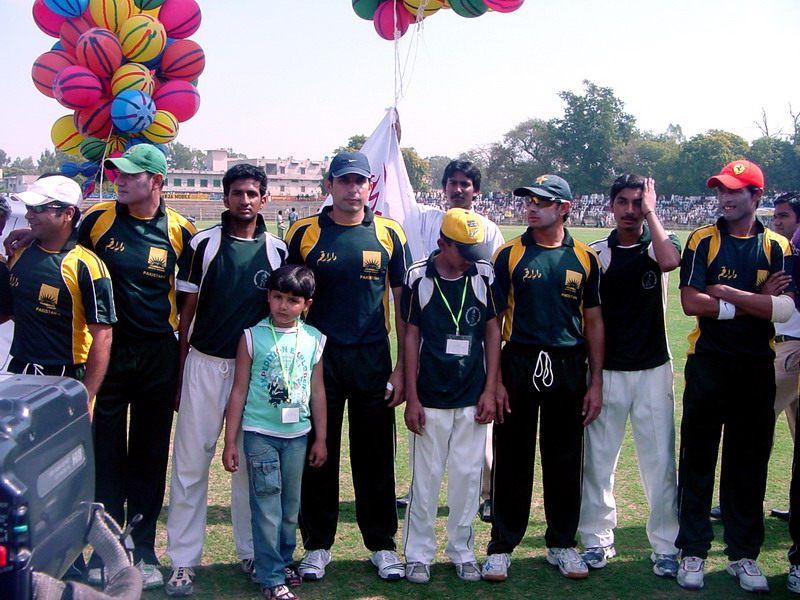 Pakistani Cricket Team in Sargodha Stadium
